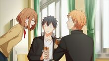 Kasai telling Ritsuka and Ryuu that they aren't being sociable