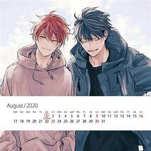 Given Calendar 2020 Mafuyu & Ritsuka August page