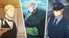 Akihiko's different jobs