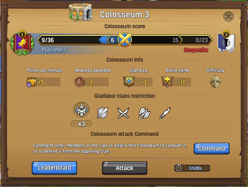 Clanbattle colosseum info