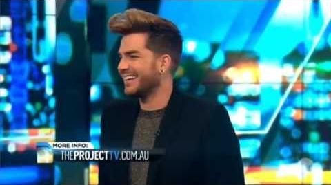 Adam Lambert Interview on 'The Project' - August 03, 2015