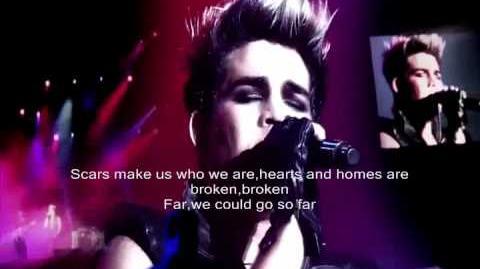 Adam Lambert-Outlaws of love live lyrics