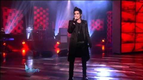 "The Ellen DeGeneres Show- Adam Lambert - ""Strut"" (January 26th, 2010)"