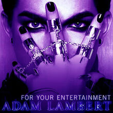 +Adam Lambert For Your Entertainment single photo purple