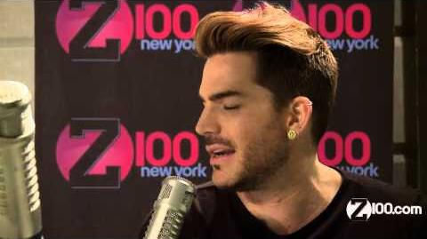 Adam Lambert Interview by jj in the Z100 studio