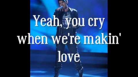 Adam Lambert - Cryin' (Studio version)