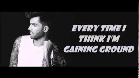Adam Lambert Things I Didn't Say Lyrics