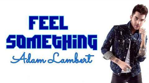 Adam Lambert - Feel Something (Lyrics)