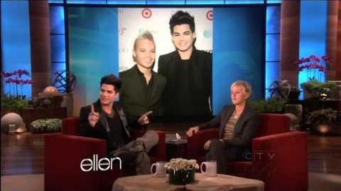 Adam Lambert interview at Ellen DeGeneres Show
