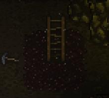 Mine ladder up