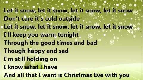 Glee - Christmas eve with you - lyrics
