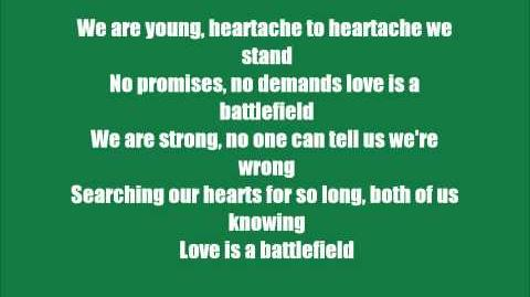 """Love is a Battlefield"" by Pat Benatar *Lyric Video*"