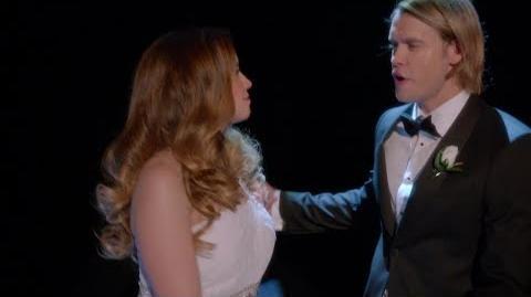Glee The Beatles Something on Season 5 Sam Evans Scene