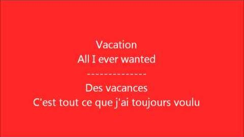 Glee - Vacation Paroles & Traduction