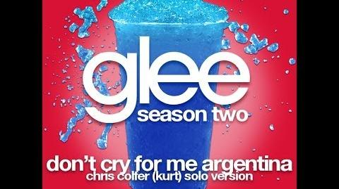 Glee - Don't Cry For Me Argentina (Kurt Solo Version) LYRICS