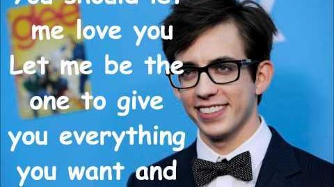 Glee - Let me love you Lyrics