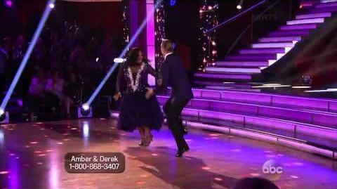 Amber Riley & Derek Hough Foxtrot Week 5