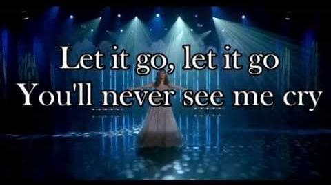 Glee - Let It Go (Lyrics)
