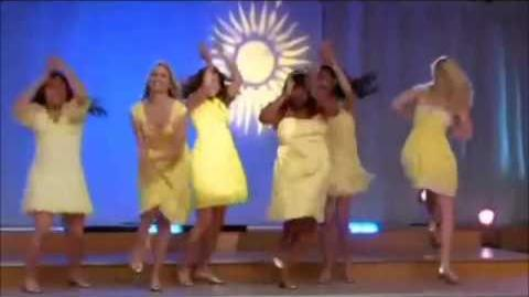Glee - Halo - walking on sunshine full performance