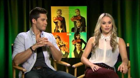 Glee - Interview with Dean Geyer and Becca Tobin
