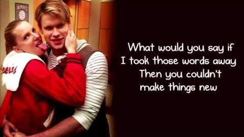 Glee - More Than Words (Lyrics)