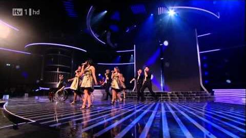 The Cast Of Glee - Don't Stop Believing - X Factor Semi Final (FULL HD)-0