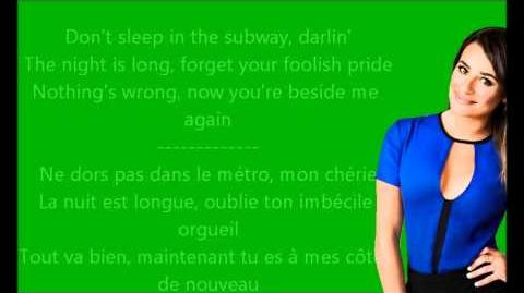 Glee - Don't sleep in the subway Paroles & Traduction