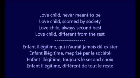 Glee - Love child Paroles & Traduction