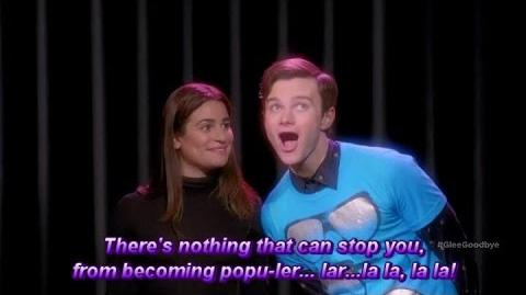 "Glee Popular Lea Michele (Wicked Lyrics) ""2009"" Season 6 Episode 12-0"