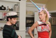 Brittany und Kurt planen ihren Wahlkampf