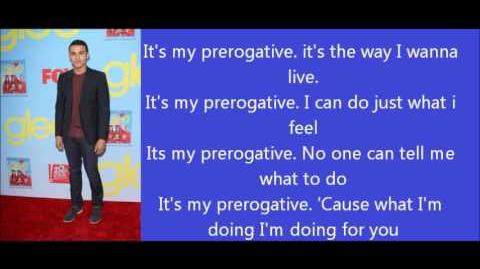 Glee My prerogative lyrics
