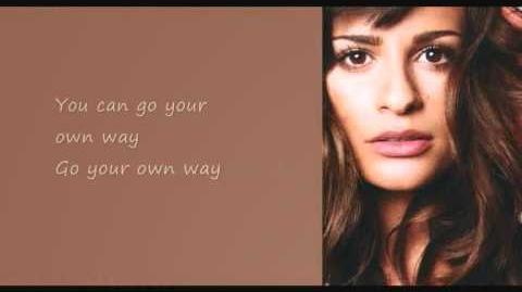 Glee - Go your own way (lyrics)-1