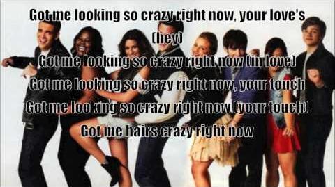 Glee Hair Crazy in Love with lyrics