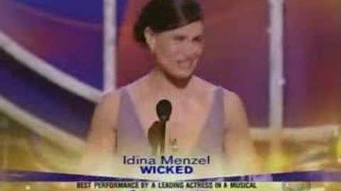 Idina Menzel - Acceptance Speech Tony Awards 2004