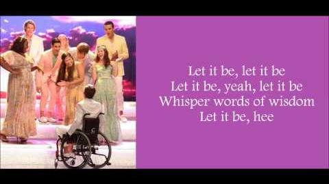 Glee - Let It Be (Lyrics)