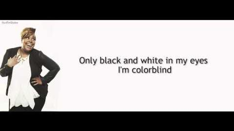 Glee - ColorBlind LYRICS