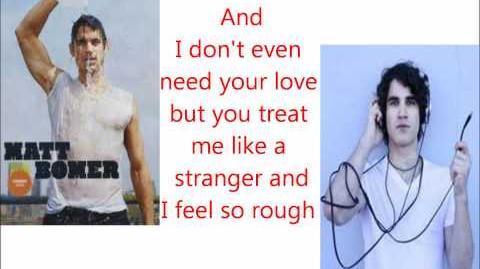 Glee Somebody That I used to know Lyrics