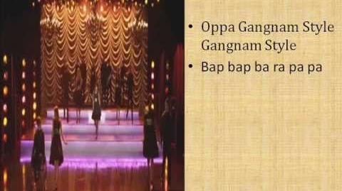 Glee Gangnam Style lyrics-0