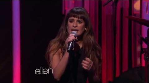Lea Michele singing 'Cannonball' on Ellen