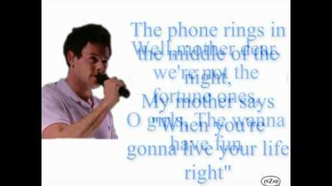 Glee Girls Just Wanna Have Fun FULL lyrics