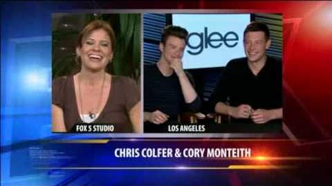 """Glee"" Stars Chris Colfer and Cory Monteith on KTLA-0"