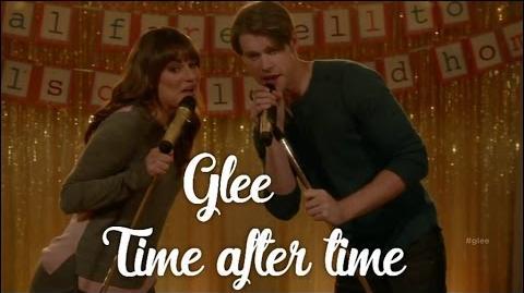 Glee - Time after time (lyrics) HD