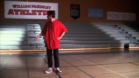 Glee Kurt Auditions For Cheerios