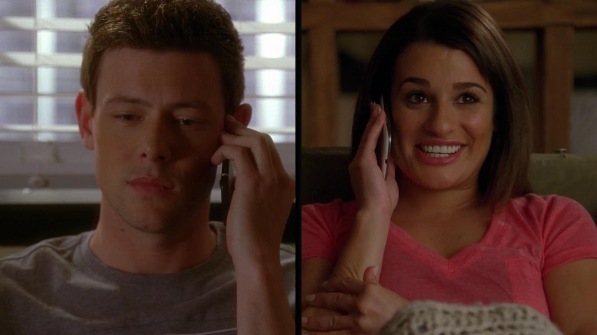 Who has finn dating in glee