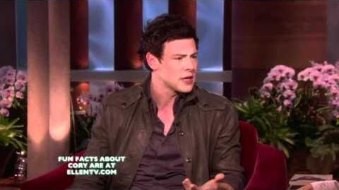 Cory Monteith on The Ellen Show - Feb 18, 2011