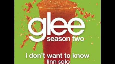 Glee - I Don't Want To Know - Finn Solo