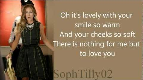Glee - The Way You Look Tonight You're Never Fully Dressed (Lyrics)