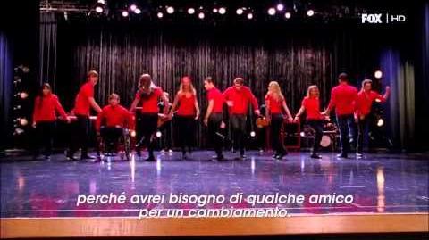 "Glee 4x07, ""I Superduetti"" - Some Nights"