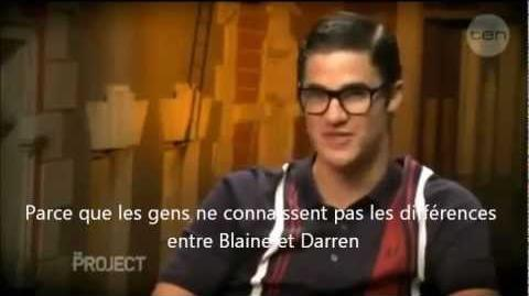 Glee - Darren Criss se transforme en Blaine Anderson VOSTFR