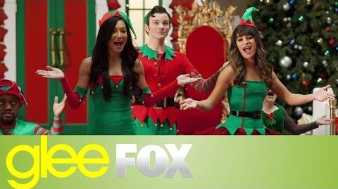 "GLEE ""Here Comes Santa Claus Down Santa Claus Lane"" Official Performance"